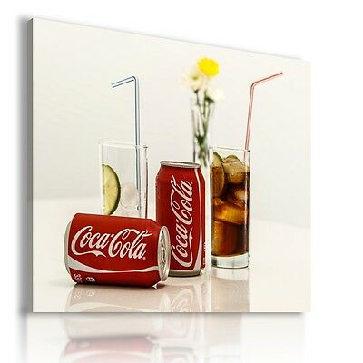 COCA-COLA CAN DRINK Canvas Wall Art Picture Large SIZES DR4 MATAGA .