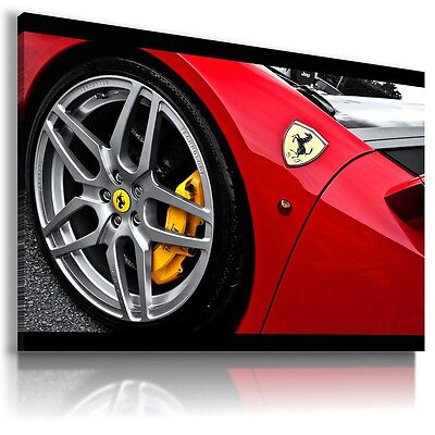 FERRARI ITALIA YELLOW Sport Cars Large Wall Canvas Picture ART AU409 X MATAGA