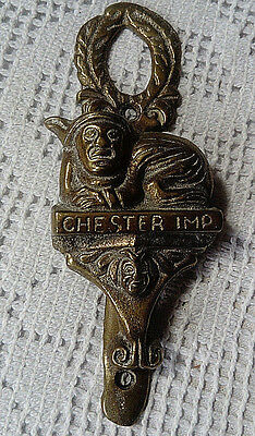 "Antique, Solid Brass ""chester Imp"" Door-Knocker In Original Excellent Condition"