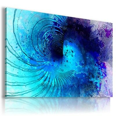ABSTRACT ORANGE SPIRAL WAVES CANVAS WALL ART PICTURE LARGE SIZES AB669 X MATAGA