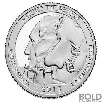 2013-S Silver Proof ATB Quarter - MOUNT RUSHMORE
