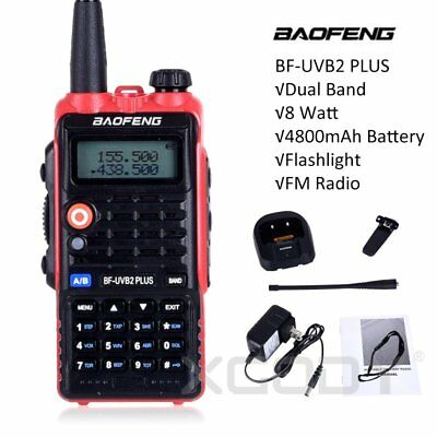 Baofeng Handheld Walkie Talkie Vhf Uhf Two Way Fm Radio Ctcss 8W Max 15Km