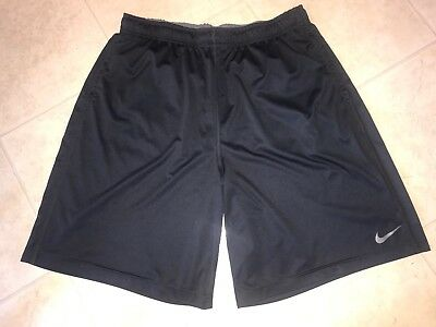 NIKE DRI FIT ~ Men's Black  Athletic Basketball Work Out Polyester Shorts ~ 2XL