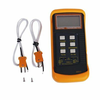 SS Digital Thermometer w/ K-Type Thermocouple Sensors