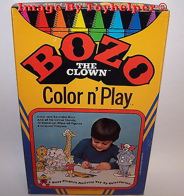 Bozo The Clown Color N' Play Set Colorforms Busy Fingers Activity Toy Unused