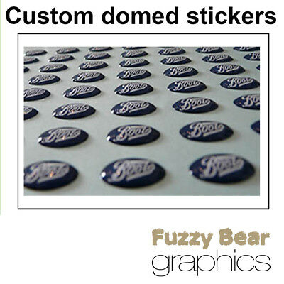 Custom Domed Stickers / A4 Sheet / Personalised Business Company Logo Stickers