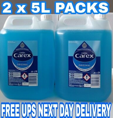 2 x 5 Litter Carex Original Professional Anti Bacterial Liquid Hand Soap Wash 5L