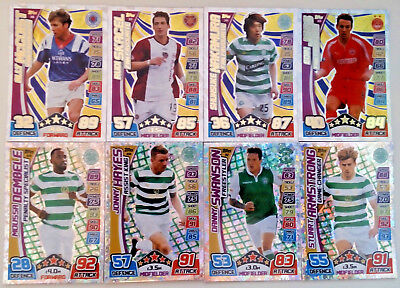 Match Attax Spfl 2017-2018 Scottish Fans Favourite Tactic Cards And Goal Kings