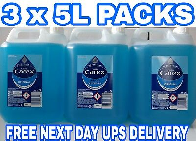 3 x 5 Litter Carex Original Professional Anti Bacterial Liquid Hand Soap Wash