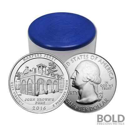2016 Silver 5 oz Coin ATB Harpers Ferry NP West Virginia Roll (10 Coins)