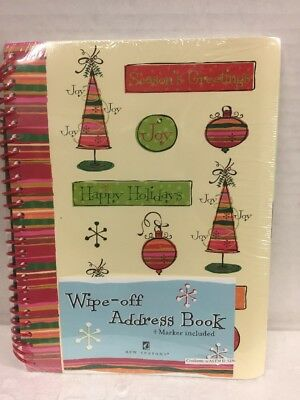 New Seasons Wipe Off Dry Erase Christmas Holidays Address Book NIP