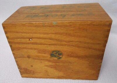 VTG Globe Wernicke 84-C Junior Tray Golden Oak Wooden Card Index File Recipe Box