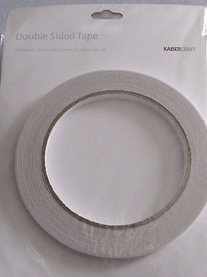 KAISERCRAFT DOUBLE SIDED TAPE ACID & SOLVENT FREE 6mmX25m