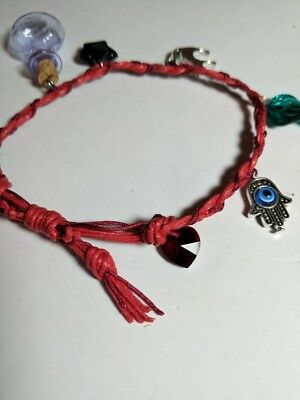witches charm lucky red bracelet
