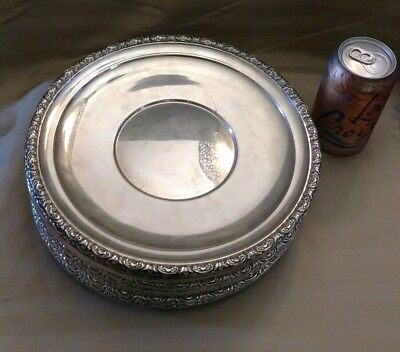 Set of 12 International Sterling silver Prelude 10.5  inch plates