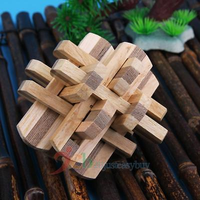 3D Puzzle Wooden Toys IQ Brain Teaser Kongming Luban Lock Adult Intellectual Toy