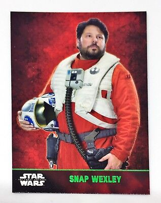 2015 Topps Star Wars Force Awakens Series 1 Green Parallel SP Snap Wexley