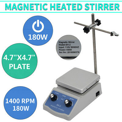 110V Heating Hot Plate Magnetic Stirrer Mixer Heater Chemical Laboratory
