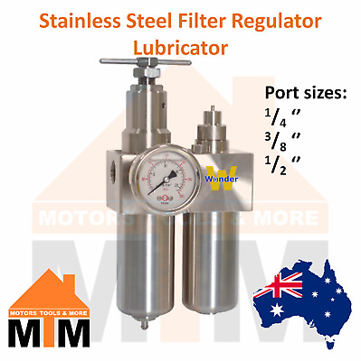 FRL Stainless Steel Filter Regulator Lubricator Pneumatic SS Air Compressor