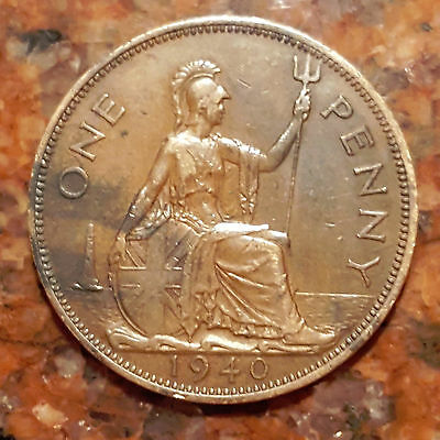 1940 Great Britain - One Penny - Ww2 Era - F145