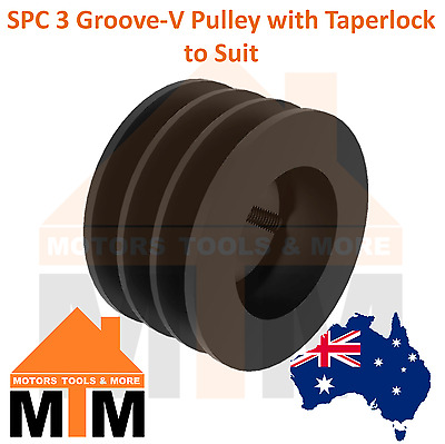 SPC C-section 3 Groove V Belt Pulley w/ taper lock to suit