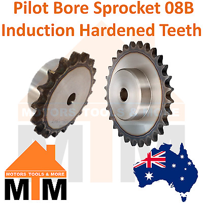 Pilot Bore Sprocket 08B BS Induction Hardened Teeth Industrial Quality 08B-1