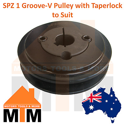 SPZ Z-section 1 Groove V Belt Pulley w/ taper lock to suit