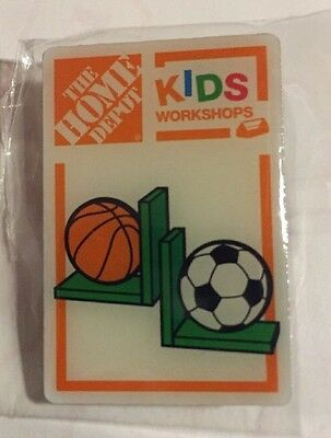 NEW THE HOME DEPOT KIDS WORKSHOP Basketball Soccer  PIN COLLECTIBLE
