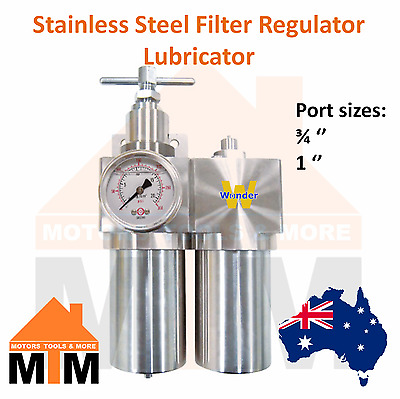 FRL Stainless Steel Filter Regulator Lubricator Pneumatic Air Compressor Large