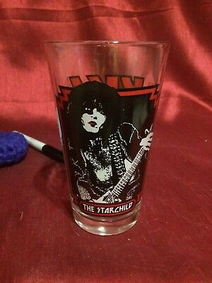 Vintage collectible 2007 Kiss The Starchild Pint Glass
