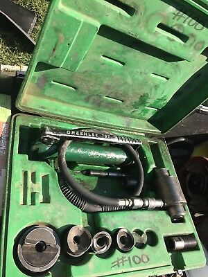 Greenlee No. 767 Knockout Punch Set w/ Hydraulic Hand Pump 767