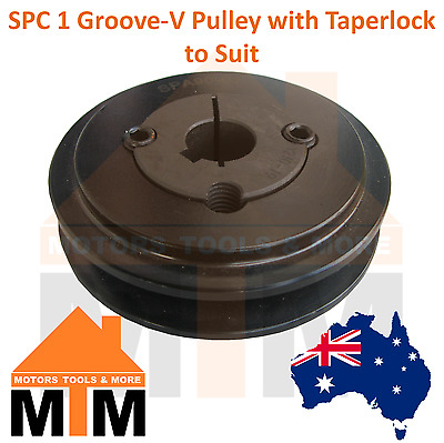 SPC C-section 1 Groove V Belt Pulley w/ taper lock to suit