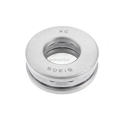 51305 Silver Tone 25mm x 52mm x 18mm Magnetic Axial Thrust Ball Bearing