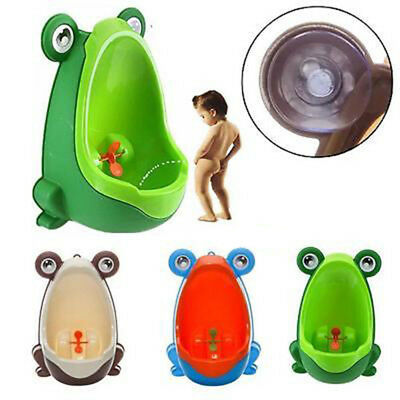 Portable Baby Kids Boys Potty Wall Urinal Stand Toilet Penico Frog Pee Bathroom