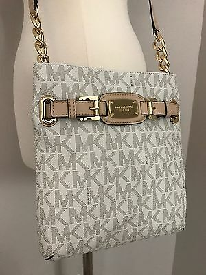 NWT MICHAEL KORS Hamilton PVC Vanilla Messenger Crossbody Shoulder Bag Purse