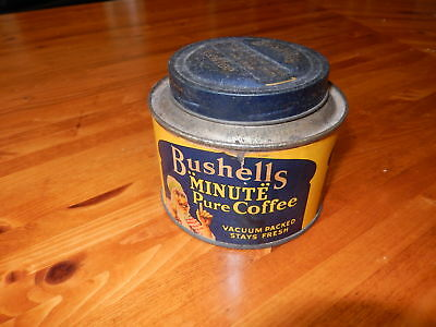 "Vintage Bushells ""Minute"" Pure Coffee Tin"