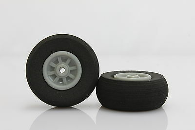 89mm *H25MM AF#01 1 Pair Rubber Wheel Replacement Tire for RC Airplane  3.5