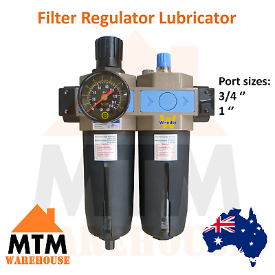 FRL - Filter Regulator Lubricator Pneumatic systems Air Compressor Larger Ports