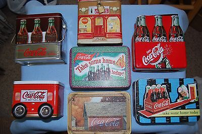 7 Different Coca-Cola Advertising Tins