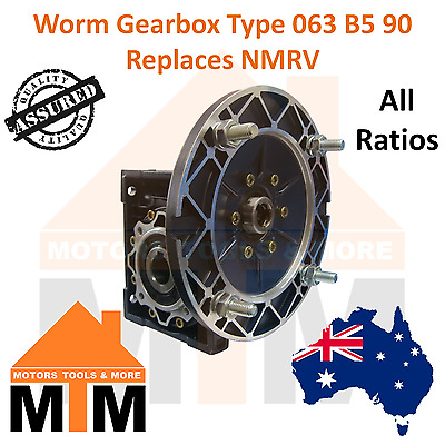 Worm Gearbox Industrial Type 063 B5 90 Replaces NMRV
