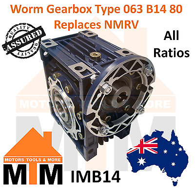 Worm Gearbox Industrial Type 063 B14 80 Replaces NMRV
