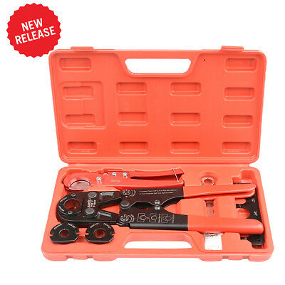 "IWISS ASTM F1807 Pex Pipe Crimping Tool  with Pex Pipe Cutter Tool 3/8""-1"