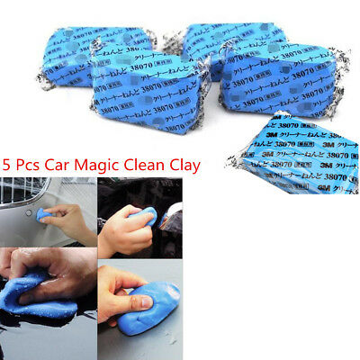 5pcs Blue Magic Car Truck Clean Clay Bar Auto Detailing Cleaner Washer Universal