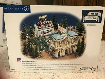 Department Dept 56 Snow Village Champsfield Stadium