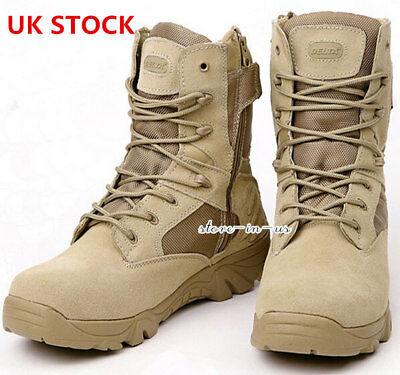 Men Military Tactical Boots Desert Combat Outdoor Army Hiking Travel Botas Shoes