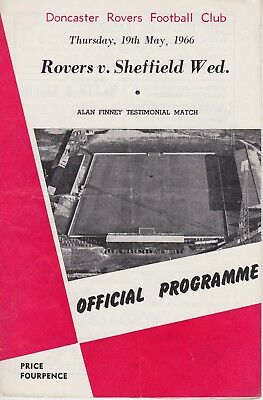 DONCASTER ROVERS v SHEFFIELD WEDNESDAY ~ ALAN FINNEY TESTIMONIAL ~ 19 MAY 1966