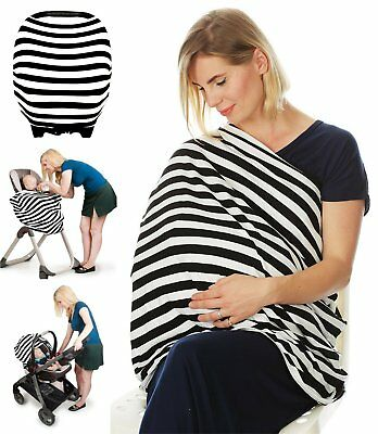 Nursing Breastfeeding Cover Scarf Baby Car Seat Canopy Infinity Stretchy Shawl