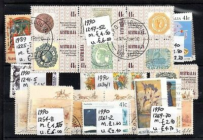 Australia 1989-1990 mint & used sets collection Cat Val £40 WS5983