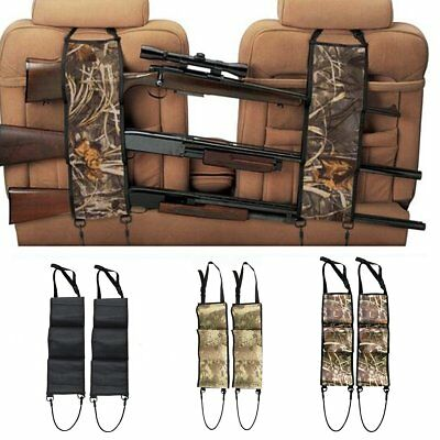 2PCS Back Seat Gun Sling Rack Rifle Shotgun Storage Ammo Pickup Camo Truck SUV
