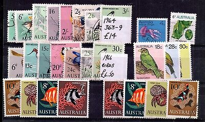 Australia 1964-1965 Birds, Fish mint/used collection WS5994